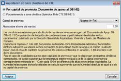 CYPETHERM ISO 13788. Datos climáticos
